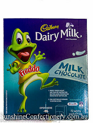 FREDDO FROGS - 72 pieces x 12g - Cadbury Milk Chocolate Bars, Canteen Sweets