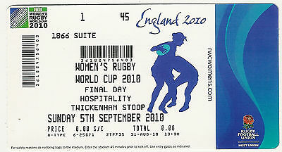 Women's Rugby WorldCup 2010 final ticket