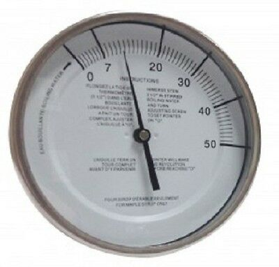 """Baker T5112MSSP Maple Syrup Stem Thermometer, 5"""" Dial, 12"""" Stem"""