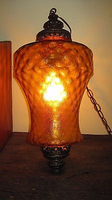 Large Vintage Mid Century Retro Hanging Swag Lamp Home & Garden Ceiling Light
