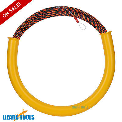 50M Cable Puller Conduit Snake Fish Tape Wire Guide Tested 650KG Taiwan T0198
