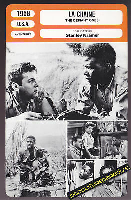 THE DEFIANT ONES 1958 Sidney Poitier MOVIE PHOTO CARD