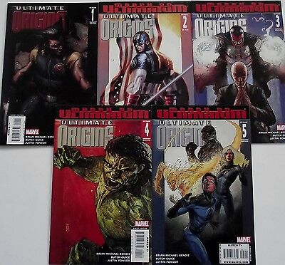 ULTIMATE ORIGINS 1B,2A,3B,4B,5B (1-5)...NM-..2008...Brian Bendis.. Butch Guice..