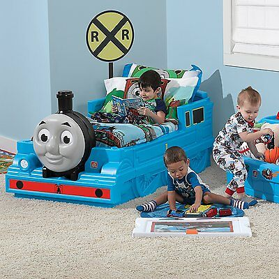 . BOYS TODDLER BED Train Thomas The Tank Engine Kids Bedroom Furniture Toy  Friends