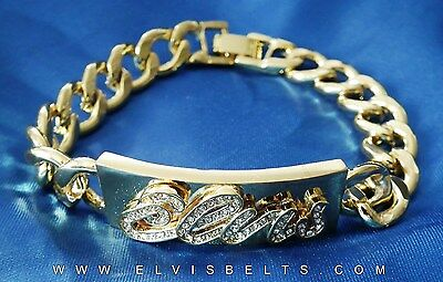 Stunning Gold Plated Elvis Braclete In 4 Sizes