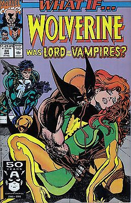 WHAT IF #24 Wolverine...VF/VF+..1991 Roy Thomas..HTF Bargain!