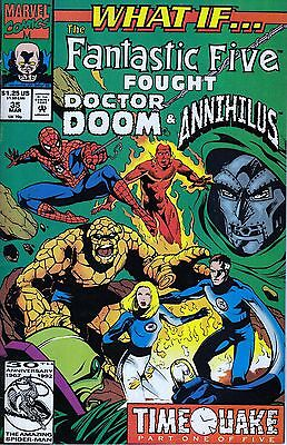 WHAT IF #35 Fantastic Five..VF/NM-..1992 Roy Thomas ..HTF Bargain!