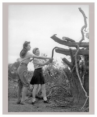 Vintage art canvas prints, Women at War - On the Land 18, WWII