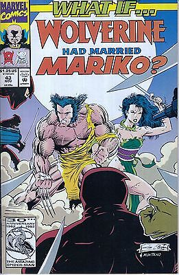 WHAT IF #43 ...Wolverine... Mariko VF/NM- ...1992... Ron Marz. HTF Bargain!