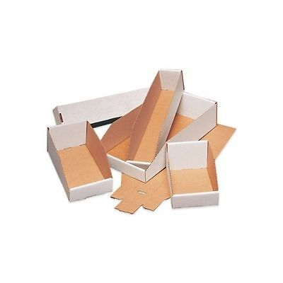 "50 -16"" x 12"" x  4 1/2"" Open Top Corrugated Bin Boxes - White"