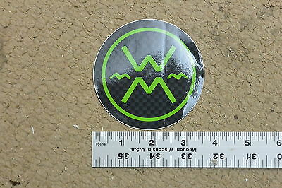 Werner Green/Carbon circle Sticker Decal