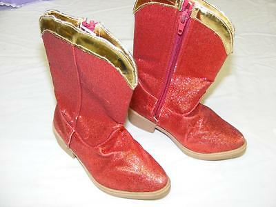 Disney Store Toy Story Jessie Costume Red Glitter Boots 9/10