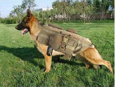 Army Military Tactical Bomb Squad Harness Vest Hunting Molle Dog Canine Supply