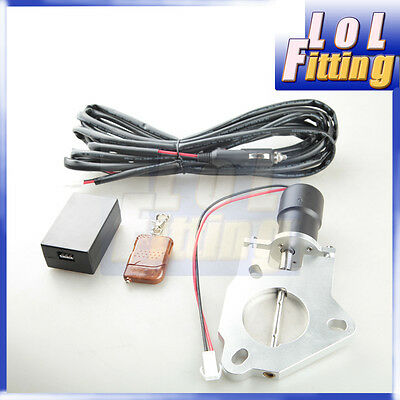 "2.5"" 63mm Electric Exhaust Catback Downpipe Cutout Valve Motor +Remote Control"