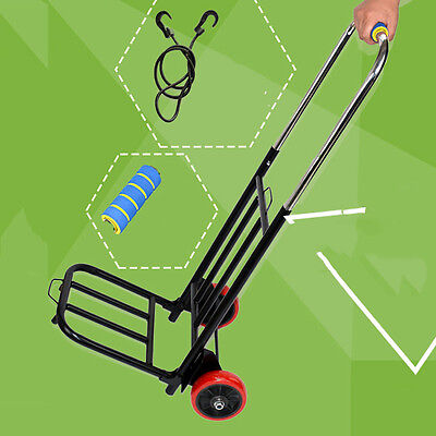 Portable Shopping Carrier Folded Wheeled Luggage Cart 110lb Maximum Capicity