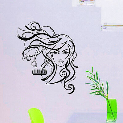 Wall Decals Hairdressing Hair Beauty Salon Decal Vinyl Sticker Girl Fashion Z803