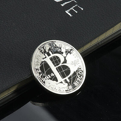 Silver Color  Freedom & Peace Bitcoin Commemorative Coins Art Collectible Gifts