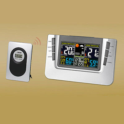 Digital Wireless Weather Station Clock Barometer Thermometer Humidity sensor