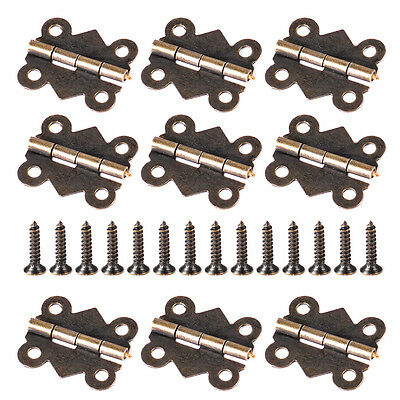 20pcs 20x17mm Antique Brass Butterfly Jewelry Box Hinge Small Hinge with Screws