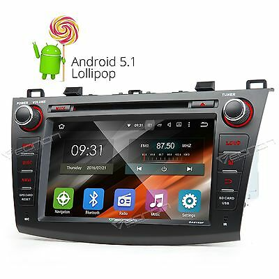 """For Mazda 3 2010 2011 2012 2013 HD Car Stereo Android 5.1 8""""DVD GPS Radio R BOSE"""