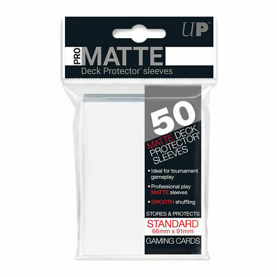 Ultra Pro Deck Protector Sleeves Matte Non Glare WHITE Pokemon MTG 50 in Pack