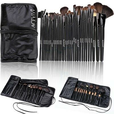 32pc Make Up Brush Set Professionale Pennelli Ombretto Glitter Occhi Viso