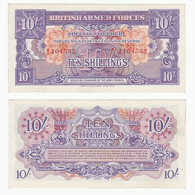 BRITISH ARMED FORCES 10/- Shillings - Pick ref: M14a - EF.