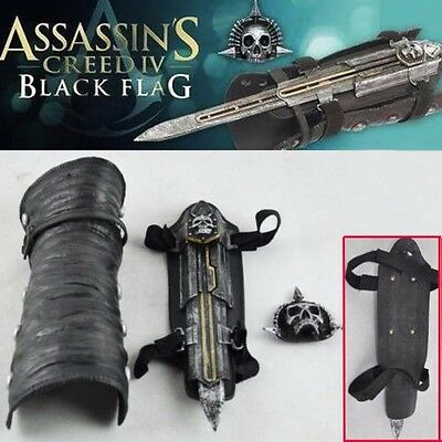 Cosplay Assassin's Creed 4 Black Flag Pirate Hidden Blade Edward Gauntlet No Box