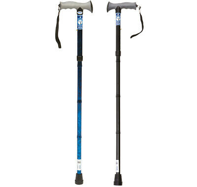 2 x Gel Handle Folding Walking Stick Cane Pack - Choose Your Colours