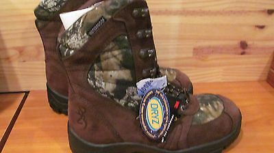 Browning Waterproof Camo Hunting Boots Thinsulate Ultra 800 Grams  8M