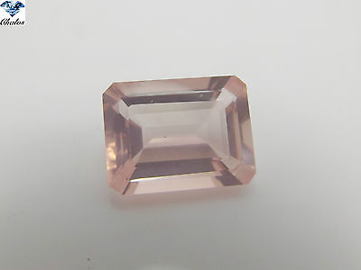 1x Rosenquarz - Octagon facettiert 9,38ct. 15,4x11,7x7,1mm (1600FQ)