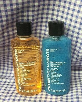 Peter Thomas Roth Clinical Skin Care Set Buffing Beads & Cleansing Gel New Set!