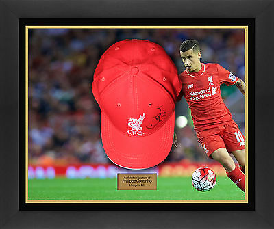Coutinho signed Liverpool Cap dome display
