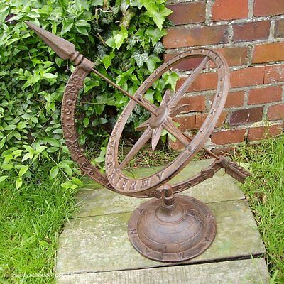 Large English Garden Sundial Star Ornament Cast Iron Antique Country Style