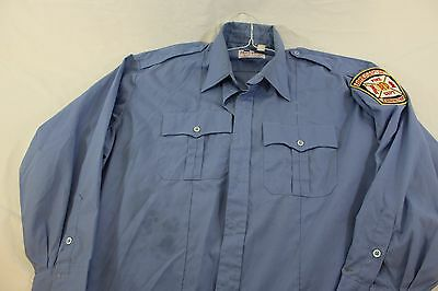 Large Bridgeport CT Fire Department real used uniform shirt good condition