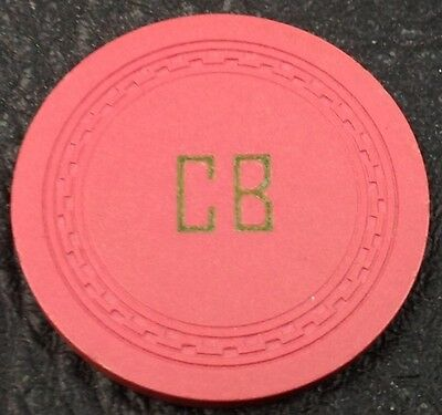 "Corner Bar ""CB"" 25¢ Casino Chip Fallon Nevada ZigZag Mold 1954 FREE SHIPPING"