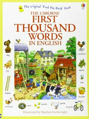 First Thousand Words in English (Usborne First Thousand Word... by Heather Amery