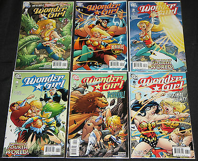 Modern DC WONDER GIRL VOL. 1 6pc High Grade Comic Lot #1-6 Teen Titans Good Girl