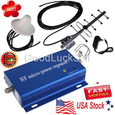 CDMA850MHz Cell Phone Signal Repeater Booster Amplifier +Yagi Antenna Kit HOT US