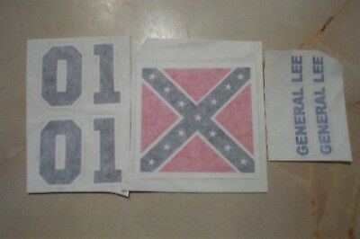Dukes Of Hazzard Mego General Lee Decals. Super Nice !