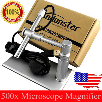 2MP USB Digital Microscope Video webcam Magnifier Camera Stand Andonstar Cam