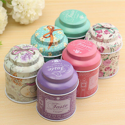 Flower Pattern Metal Sugar Coffee Tea Tin Jar Container Candy Sealed Cans WB