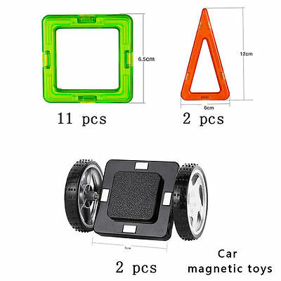15 PCS Car Magnetic Toys Similar Magformers All Magnetic Building Block Magspace