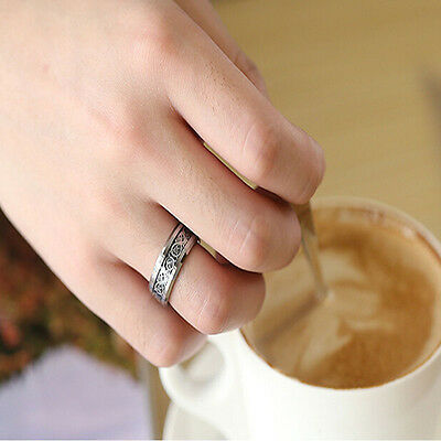 Fashion Men Silver Celtic Dragon Titanium Stainless Steel Wedding Band Rings HOT