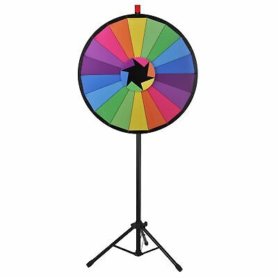 "WinSpin™ 30"" Color Prize Wheel 18 Slot Floor Stand Tripod Spin Game Tradeshow"