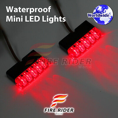 FRW Ultra Bright Red MINI LED light x2 Footpegs Brake FOR Universal MV Agusta
