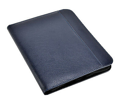 A4 File Folder Padfolio Writing Pad Business Presentation Folder Portfolio -Blue