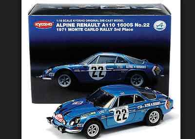 Renault Alpine A110 1600 SC 1972 Montecarlo Rally Blue 08483A 1/18 Kyosho