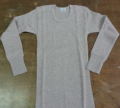 RAGNO Long sleeve crew-neck intimo 100% wool made in italy