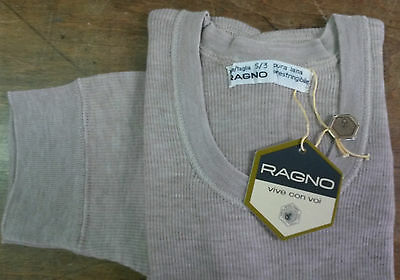 RAGNO Short Sleeves crew-neck intimo 100% wool made in italy